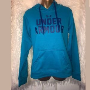 Under Armour blue turquoise semi fitted pullover S